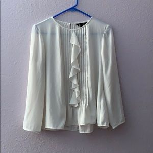 Banana Republic Pleated Blouse with Ruffles